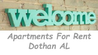 Gorgeous Apartments For Rent Dothan AL