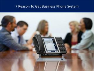 7 Reason To Get Business Phone System