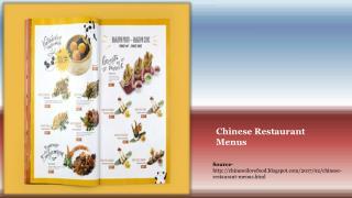Chinese Restaurant Menus