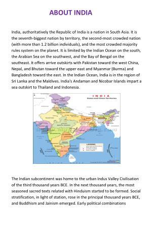 India's History, Economy,Culture, Religion and Politics