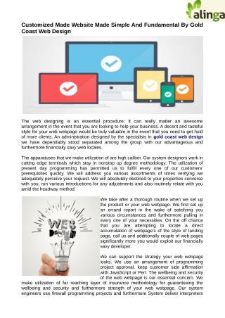 Custom or Affordable Website Design at Gold Coast