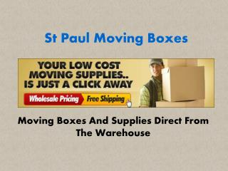 St Paul Moving Boxes- Best Moving Box Supplier in Minneapolis