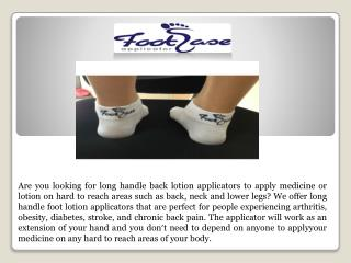 foot ease applicator