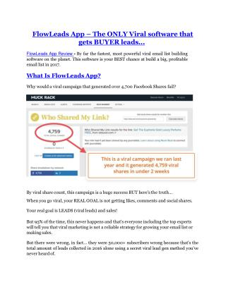 FlowLeads App REVIEW & FlowLeads App (SECRET) Bonuses
