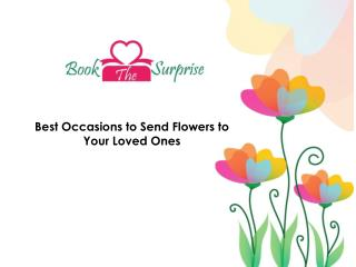 Reasons to Send Flowers for Special Occasions