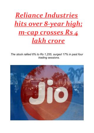 Reliance Industries hits over 8-year high; m-cap crosses Rs 4 lakh crore.pdf