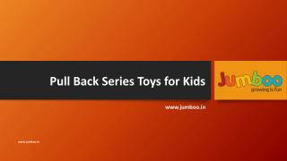 Pull back series toys for kids