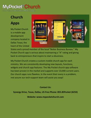 Custom Church Apps | Mobile Church apps & app Developments