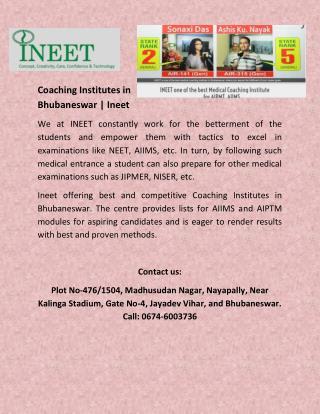 Coaching Institutes in Bhubaneswar