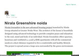 Nirala Greenshire Price List