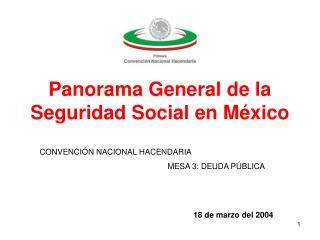 Panorama General de la Seguridad Social en M xico