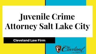 Juvenile Crime Attorney Salt Lake City