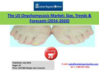 US Onychomycosis Market (Prescription Drugs) Size, 2016 Trends & 2020 Forecasts