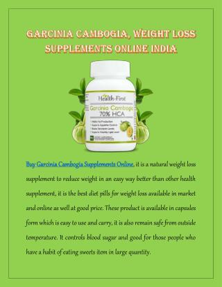 Garcinia Cambogia, Weight Loss Supplements Online India