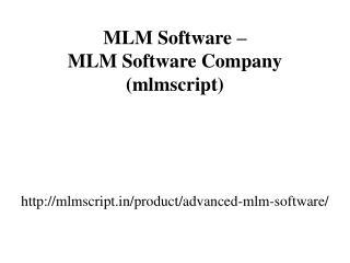 MLM Software – MLM Software Company (mlmscript)