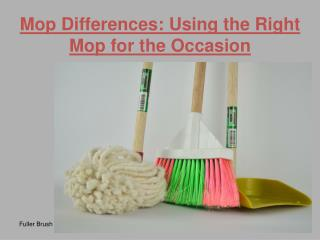 Mop Differences: Using the Right Mop for the Occasion