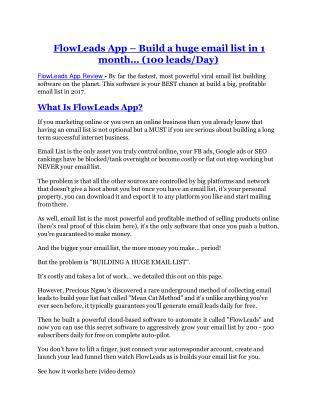 FlowLeads App review - FlowLeads App (MEGA) $23,800 bonuses