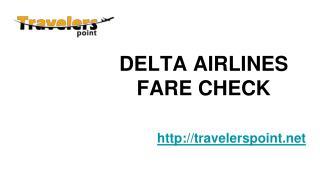DELTA AIRLINES FARE CHECK