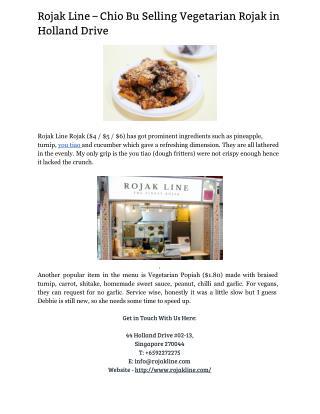 Rojak – Singapore Vegetarian Food