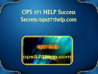 OPS 571 HELP Success Secrets/ops571help.com