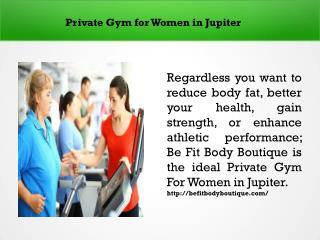 Private Gym for Women in Jupiter