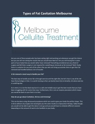 Melbourne Cellulite Treatment