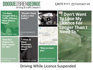 Driving While Licence Suspended