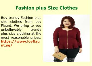 Big Size Ladies Clothes