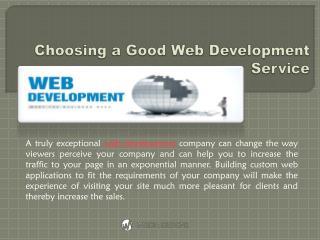 Choosing a Good Web Development Service | iMedia Designs