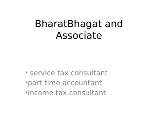 Business tax consultant
