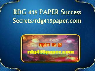 RDG 415 PAPER Success Secrets/rdg415paper.com