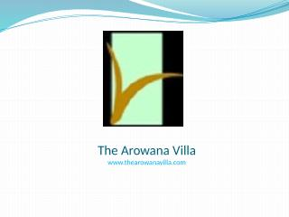 the Arowana Woods - Perfect villa on rent to enjoy nature in Lonavala