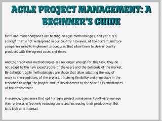 Agile Project Management: A Beginner's Guide