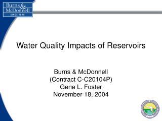 Water Quality Impacts of Reservoirs