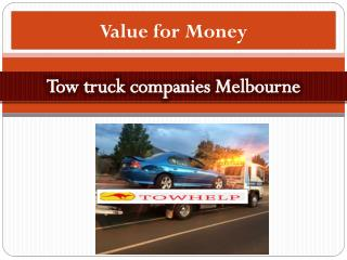 Tow truck companies Melbourne