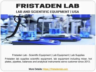 Fristaden Lab - Scientific Equipment | Lab Equipment | Lab Supplies