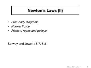 Newton s Laws II