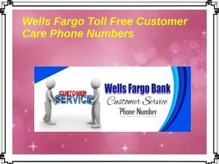 Wells Fargo Toll Free Customer Care Phone Numbers