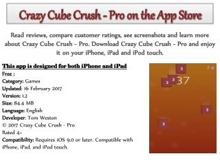 Crazy Cube Crush - Pro on the App Store