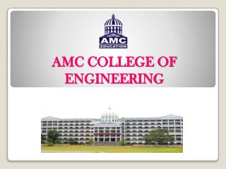 AMC ENGINEERING COLLEGE