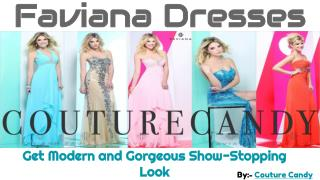 Be Fashionable With Designer Faviana Prom Couture Dresses