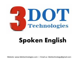 Spoken English Classes In Pune | English Speaking Training Kalewadi Phata | 3DOT Technologies