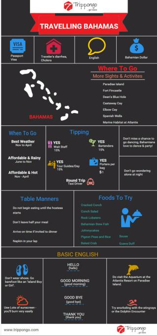 Bahamas Travelling Infographic - Trippongo
