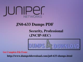 Final Juniper JN0-633 Exam Study Material - Dumps4download.com