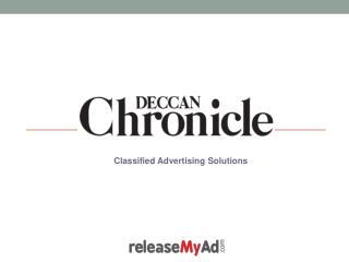 Deccan Chronicle Classified Advertisement Booking Online