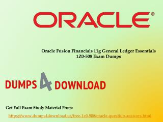 Download Free Oracle 1Z0-508 Dumps Sample Questions