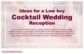 Three tips to plan a low-key wedding reception