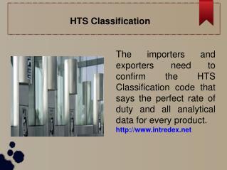 HTS Classification