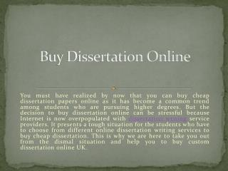 Buy Dissertation Online - Best Place to Buy a Dissertation in UK - USA & Australia | MyAssignmenthelp