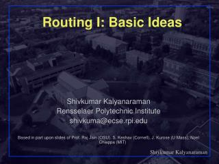 Routing I: Basic Ideas